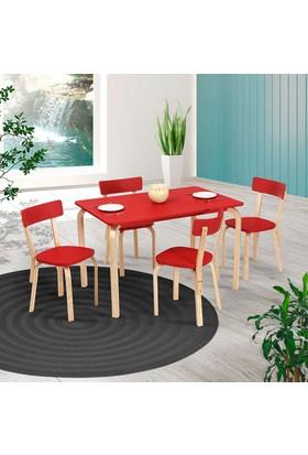 Vitale Tobi Masa Sandalye Seti Kırmızı 120x80