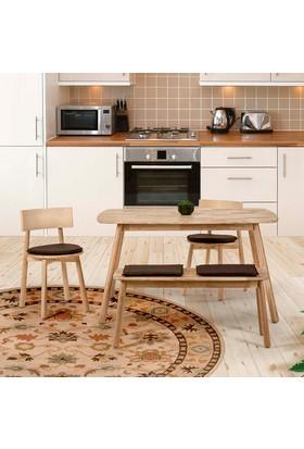 Vitale Seven Masa Sandalye Seti Kahverengi
