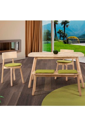 Vitale Seven Masa Sandalye Seti Yeşil