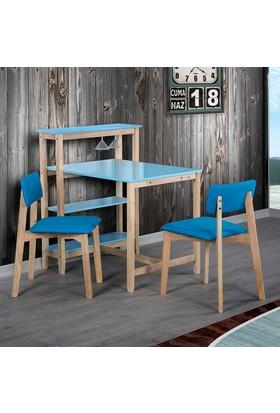 Vitale Omero Masa Sandalye Seti Mavi
