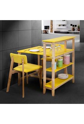 Vitale Omero Masa Sandalye Seti Sarı