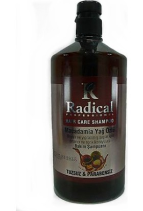 Radical Macadamia Yağ Özlü Tuzsuz Şampuan 1000 Ml.