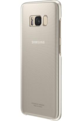 Samsung Galaxy S8 Şeffaf Kılıf Gold - EF-QG950CFEGWW