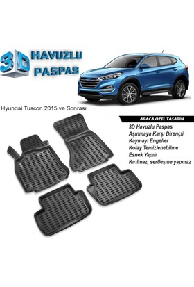Hyundai Tucson 3D Havuzlu Paspas 2015 ve Sonrası A+Plus