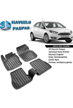 Ford Focus 4 3D Havuzlu Paspas A+Plus