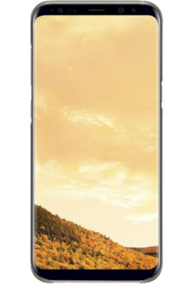 Samsung Galaxy S8 Plus Şeffaf Kılıf Gold - EF-QG955CFEGWW