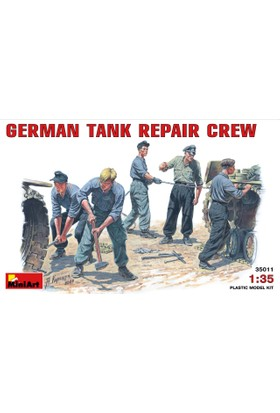Miniart 1/35 Ölçek Plastik Maket, Alman Tank Onarım Mürettebatı