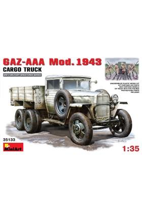 Miniart 1/35 Ölçek Plastik Maket, Gaz-Aaa Kargo Kamyonu, 1943 Model