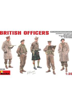 Miniart 1/35 Ölçek Plastik Maket, İngiliz Subaylar