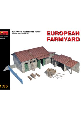 Miniart 1/35 Ölçek Plastik Maket, Avrupa Çiftlik Avlusu