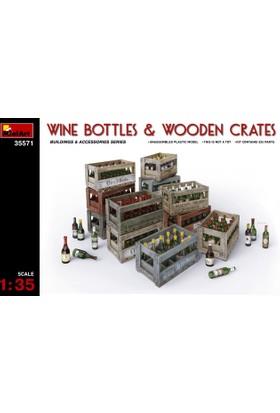 Miniart 1/35 Ölçek Plastik Maket, Şarap Şişeleri Ve Ahşap Fıçılar