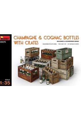 Miniart 1/35 Ölçek Plastik Maket, Şampanya Ve Konyak Şişeleri Ve Fıçılar