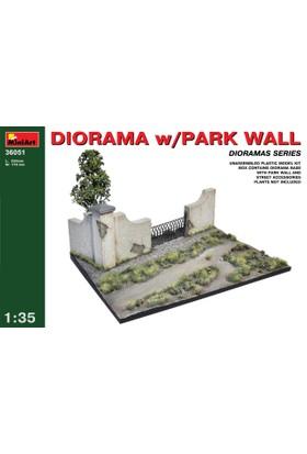 Miniart 1/35 Ölçek Plastik Maket, Park Duvarlı Diorama