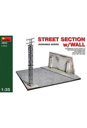 Miniart 1/35 Ölçek Plastik Maket, Duvarlı Sokak Kesiti