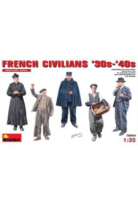 Miniart 1/35 Ölçek Plastik Maket, Fransız Siviller, 1930-40
