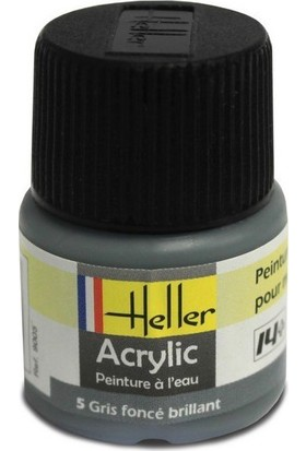 Koyu Gri Parlak No: 5, Heller 12Ml Akrilik Maket Boyası