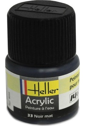 Siyah Mat No: 33, Heller 12Ml Akrilik Maket Boyası