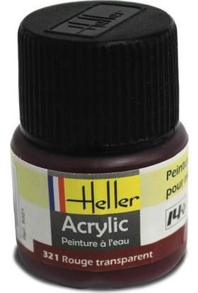 Kırmızı Transparan No: 321, Heller 12Ml Akrilik Maket Boyası