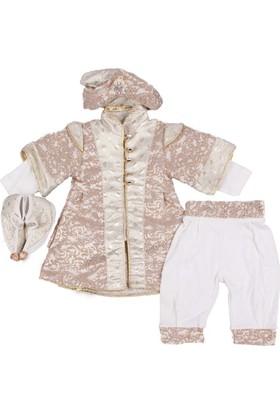 Ponpon Baby Altın Beyaz Şehzade Takım