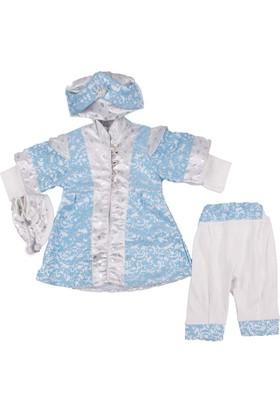 Ponpon Baby Mavi Beyaz Şehzade Takım