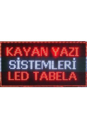Ledart 128Cm X 32Cm Kırmızı Tek Yönlü Led Tabela