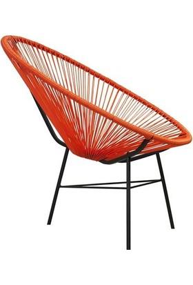 Neodesign Rattan Tekli Sandalye Kırmızı