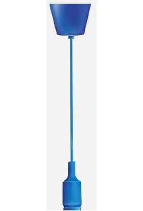 Ack Ay45 00104 Dekoratif Renkli Ampul Askı Aparatı Mavi