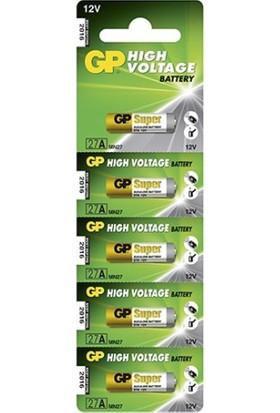 GP 5'li 27A 12V Alkalin Spesifik Pil (GP27A-C5)