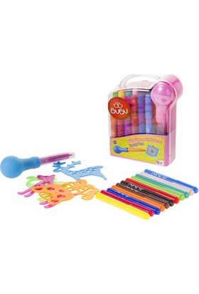 Bu-Bu 12 Renk Püskürtmeli Kalem