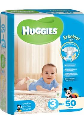 Huggies Oğlum İçin Bebek Bezi Jumbo Paket 3 Beden 50 Adet