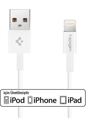 Spigen Essential Apple Lightning Şarj ve Data Kablo (1 Metre) MFI Lisanslı Made For Apple C10LS - SGP11575