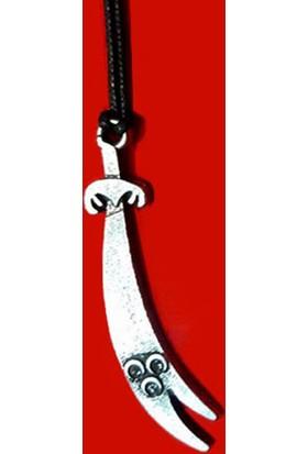 Modaroma Üç Hilal Kılıç Kolye