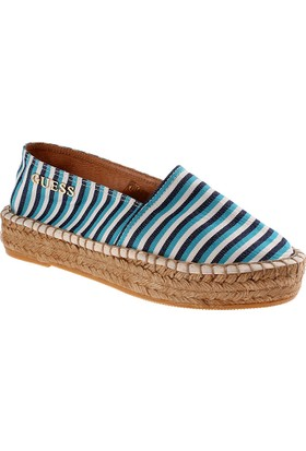 Guess Brown With Tan Fl5El2 Fap14 Elsa2 Espadrila Printed Blue White Ayakkabı