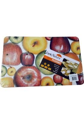 Süzen Amerikan Servis Altlığı (4 Adet) - Mantar - Elma
