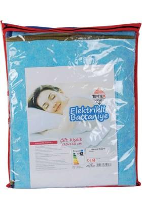 Tımtex Elektrikli Battaniye Çift Kişilik Lüks 120X160Cm + 2Yıl Garantili