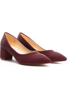 Limited Edition Bayan Stiletto Ayakkabı Bordo