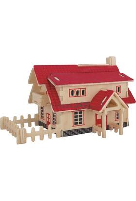 İdeal 3D Ahşap Maket Çiftlik Evi