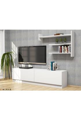 Minar Tv Ünitesi - Beyaz/Beyaz