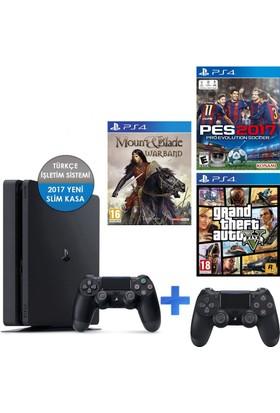 Sony Ps4 500Gb Konsol+ Pes 17 + Gta 5 + Mount Blade + 2 Kol V2