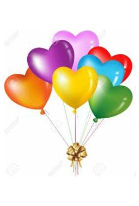 Wildlebend Kalp Şekilli Renkli Balon - 100 Adet