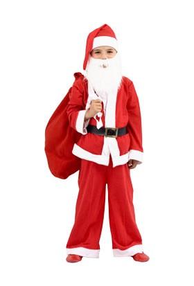 Wildlebend Yılbaşı Özel 9 - 13 Yaş Erkek Çocuk Noel Baba Elbisesi