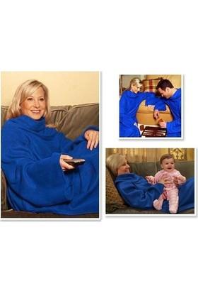 Wildlebend Giyilebilir Kollu Battaniye - Mavi