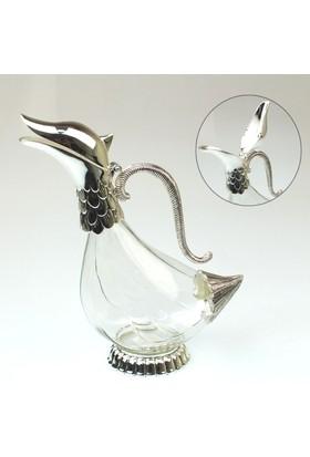 Wildlebend Sürahi Cam Ördek - Gümüş