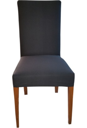 Sandalye Kılıfı - Dalgıç Kumaş - Likralı - Füme