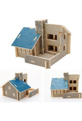 Wildlebend 3D Ahşap Puzzle - Mavi Ev