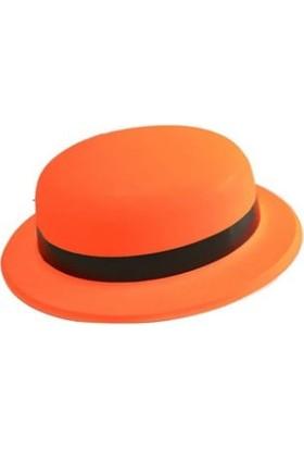 Wildlebend Neonlu Plastik Parti Şapkası - Turuncu