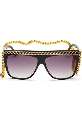 Bonalodi Altın Renk Zincir Kadın Gözlük
