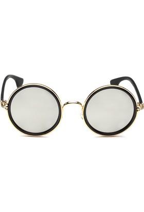 Bonalodi Gümüş Ayna Camlı Lennon Kadın Gözlük