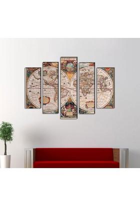 Evinemoda 5 Parçalı Mdf Tablo - Harita