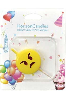 Parti Mumları - Emoji Mumlar -Kızgın İfadeli
